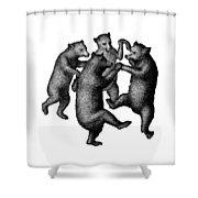 Vintage Dancing Bears Shower Curtain