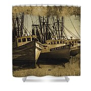 Vintage Darien Shrimpers Shower Curtain