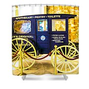 Vintage Delivery Wagon Shower Curtain