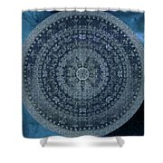 Vintage Denim Mandala Shower Curtain