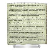 Vintage Desiderata Shower Curtain
