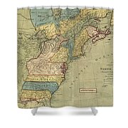 Vintage Discovery Map Of The Americas - 1771 Shower Curtain