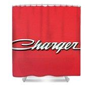 Vintage Dodge Charger Logo Shower Curtain