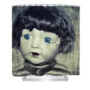 Vintage Doll Shower Curtain