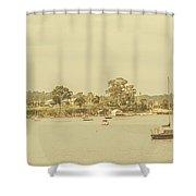 Vintage Dover Harbour Tasmania Shower Curtain