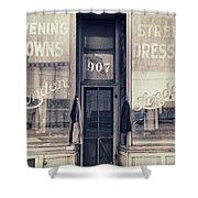 Vintage Dress Shop Shower Curtain