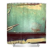 Vintage Effects Plymouth Hood Shower Curtain