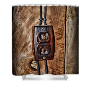 Vintage Electrical Outlet Shower Curtain