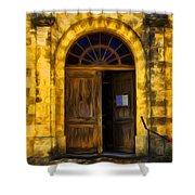 Vintage Entrance Shower Curtain