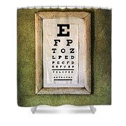 Vintage Eye Chart Shower Curtain