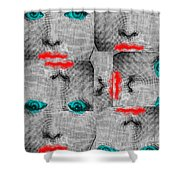 Vintage Faces Shower Curtain