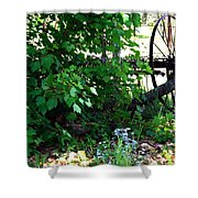 Vintage Farm Rake Shower Curtain
