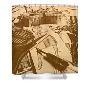 Vintage Fashion Design Shower Curtain