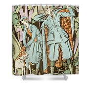 Vintage Fashion Plate Twenties Sporting Outfits Shower Curtain