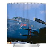 Vintage Fighter Aircraft, Burnet, Texas Shower Curtain