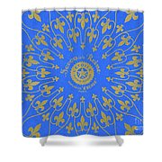 Vintage Fleur De Lis Pattern Design Shower Curtain