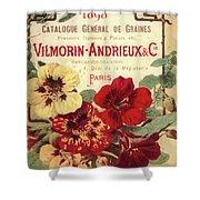 Vintage Flower Seed Cover Paris Rare Shower Curtain