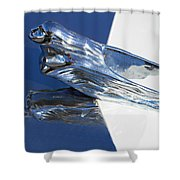 Vintage Flying Lady Hood Ornament Shower Curtain
