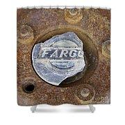 Vintage Fargo Wheel Art Shower Curtain