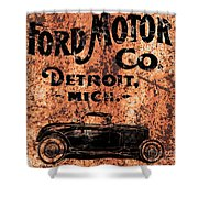 Vintage Ford Motor Company Shower Curtain