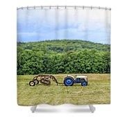 Vintage Ford Tractor Tilt Shift Shower Curtain