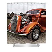 Vintage Ford Truck Rod Shower Curtain