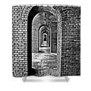 Vintage Fort Shower Curtain