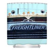 Vintage Freightliner  Shower Curtain
