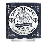 Vintage French Cheese Label 3 Shower Curtain