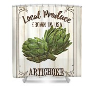 Vintage Fresh Vegetables 2 Shower Curtain