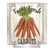 Vintage Fresh Vegetables 3 Shower Curtain