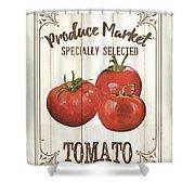 Vintage Fresh Vegetables 4 Shower Curtain
