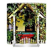 Vintage Garden Arbor Gate Shower Curtain