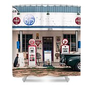 Vintage Gas Station Shower Curtain
