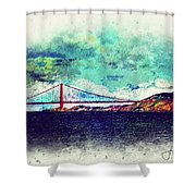 Vintage Golden Gate Shower Curtain