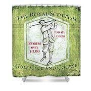 Vintage Golf Green 1 Shower Curtain