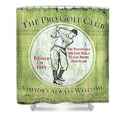 Vintage Golf Green 2 Shower Curtain