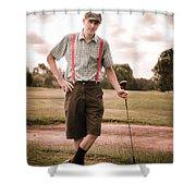 Vintage Golf Shower Curtain