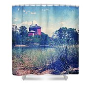 Vintage Great Lakes Lighthouse Shower Curtain