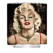 Vintage Grunge Goddess Marilyn Monroe  Shower Curtain