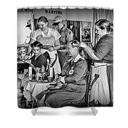 Vintage Hair Dresser Shower Curtain