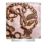 Vintage Hairdressing Charm Shower Curtain
