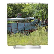 Vintage Harvester In A Field Shower Curtain