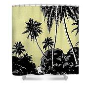 Vintage Hawaii Palms Shower Curtain