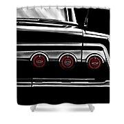 Vintage Impala Black And White Shower Curtain