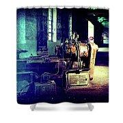 Vintage Industrial Blueprint Shower Curtain