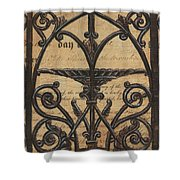 Vintage Iron Scroll Gate 1 Shower Curtain