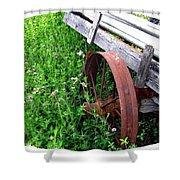 Vintage Irrigation Wagon Shower Curtain