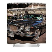 Vintage Jaguar Shower Curtain