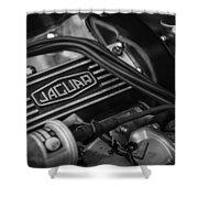 Vintage Jaguar Engine Shower Curtain